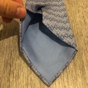 Hermes Accessories - Hermès Tie Blue chain link 7958 EA 100% silk soie